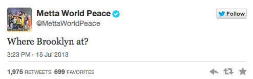 Tweet By Metta World Peace