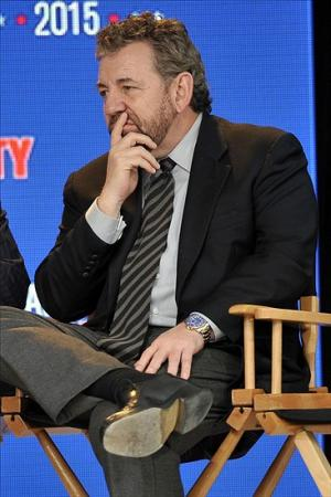 Sep 25, 2013; New York, NY, USA; President and CEO of cablevision systems corporation and executive chairman of The Madison Square Garden company James Dolan looks on during a press conference to announce the 2015 NBA All-Star weekend in New York City at Industria Superstudio. The skill competition will be held at the Barclays Center and the All-Star game will be held at Madison Square Garden. Mandatory Credit: Joe Camporeale-USA TODAY Sports