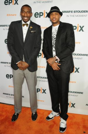 carmelo anthony amare stoudemire red carpet