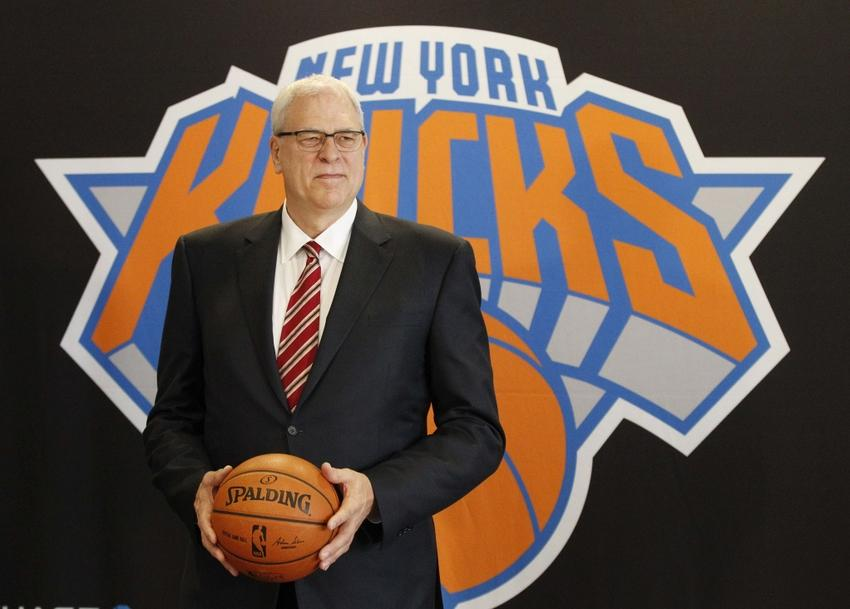 Mar 18, 2014; New York, NY, USA; New York Knicks new president of basketball of operations Phil Jackson is introduced at a press conference at Madison Square Garden. Mandatory Credit: William Perlman/THE STAR-LEDGER via USA TODAY Sports
